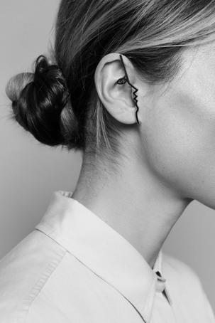 DINA RUTHENIUM EAR CUFF $393.00