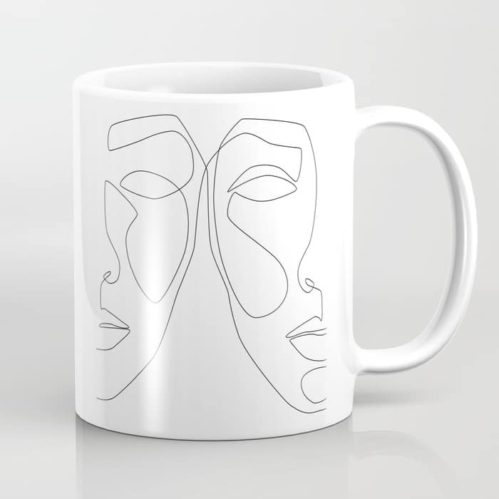 Double Face Coffee Mug $15.99