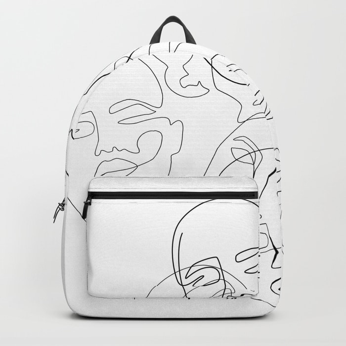 Lined Face Sketches Backpack $69.99