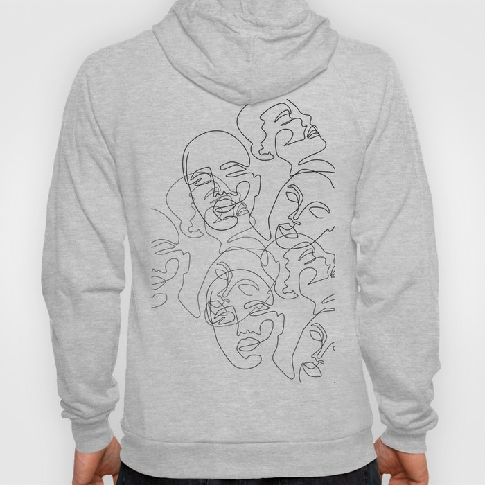 Lined Face Sketches Hoody $46.99