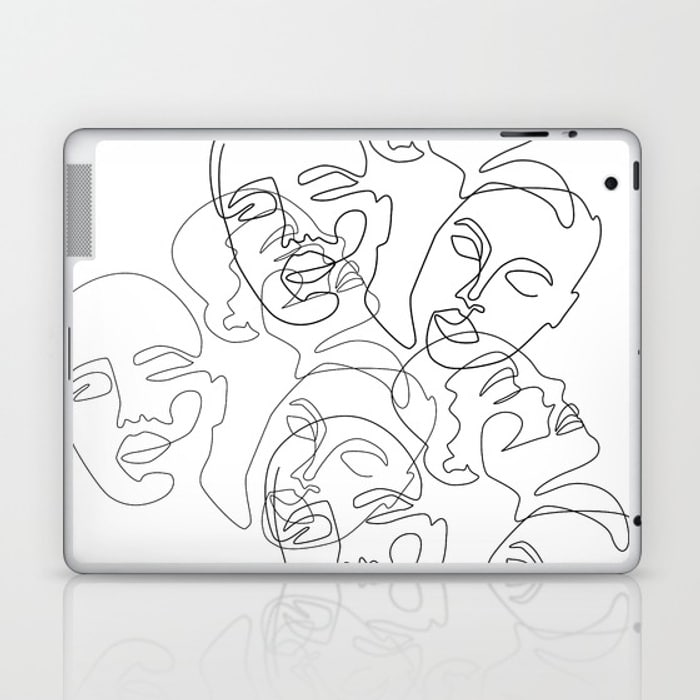 Lined Face Sketches Laptop & iPad Skin  $25.99