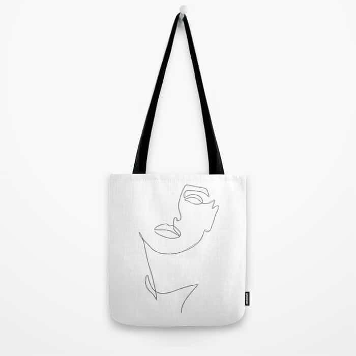 Triple Face Line Tote Bag $23.99