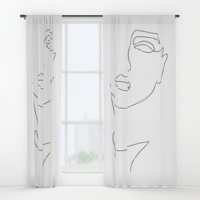 Triple Face Line Window Curtains $79.99