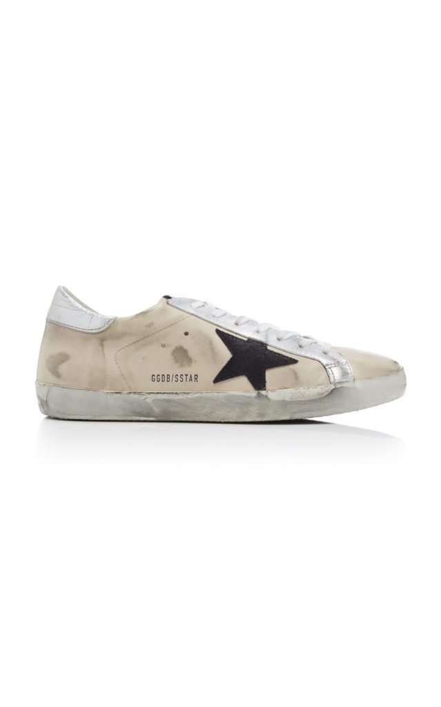 Golden GooseSuper Star Distressed Leather Sneakers $495