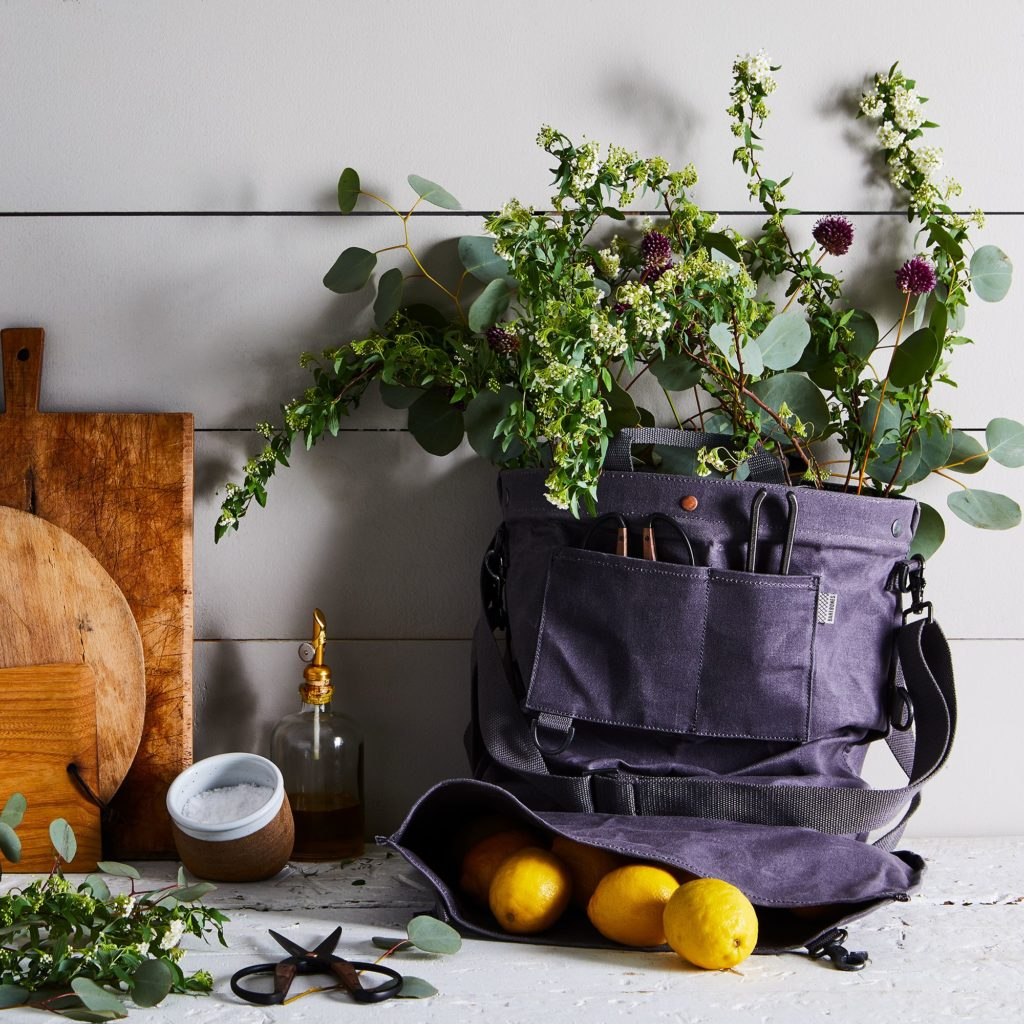 Waxed Canvas Gather Bag with Waterproof Liner $65