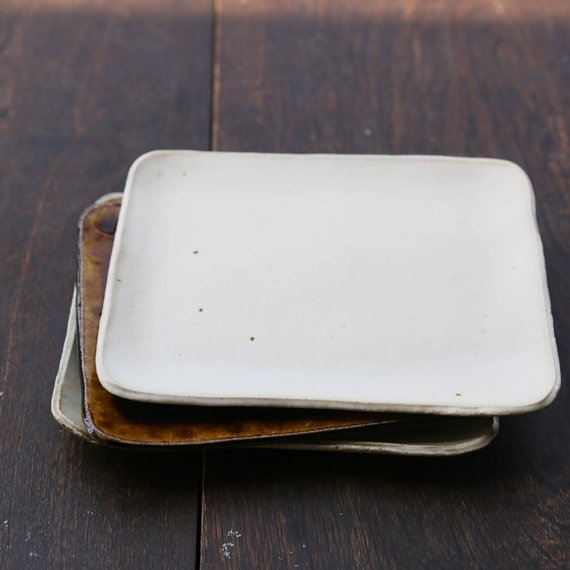 Handmade Rectangle Plate Dinnerware  $37.53