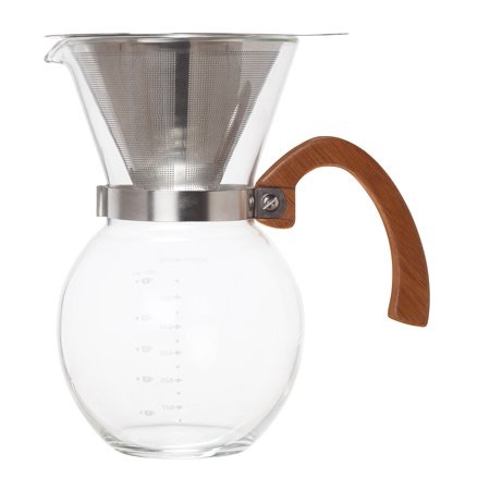 HIC Pour-Over Coffee Maker Borosilicate Glass with Bamboo Handle  $34.99