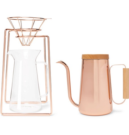 TOAST LIVING H.A.N.D Copper-Tone Coffee Set, 800Ml $300