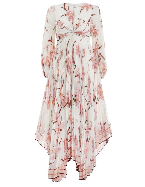 CORSAGE PLEATED DRESS $1,600.00