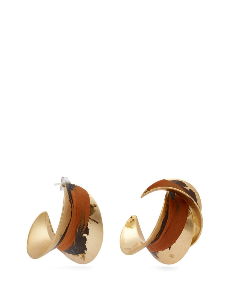 ALBUS LUMEN  X Ryan Storer mismatched painted earrings $150
