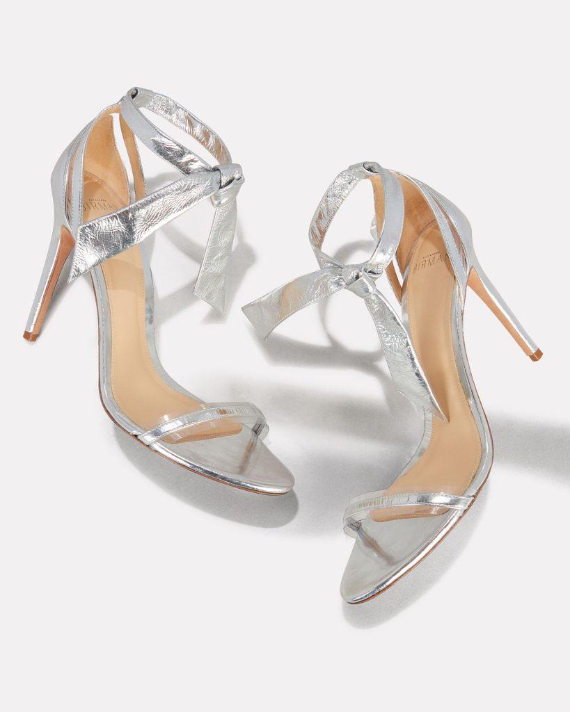 ALEXANDRE BIRMAN Clarita Pvc Silver Leather Sandals $595