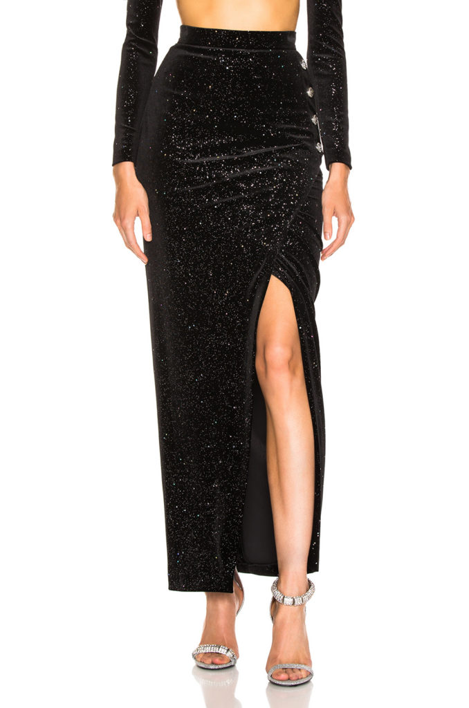BALMAIN  Star Speckled Midi Skirt $1,550