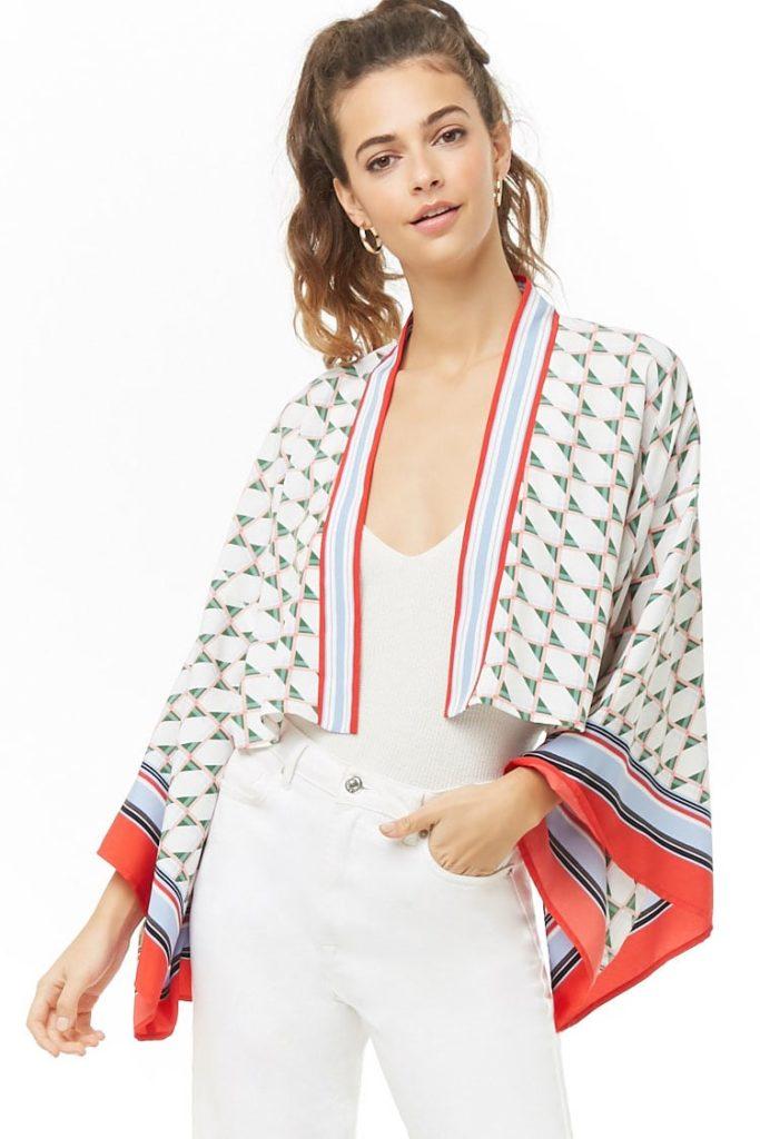 Geo Kimono Crop Top $22.90