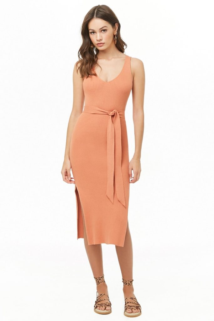 Ribbed Midi Dress $24.90