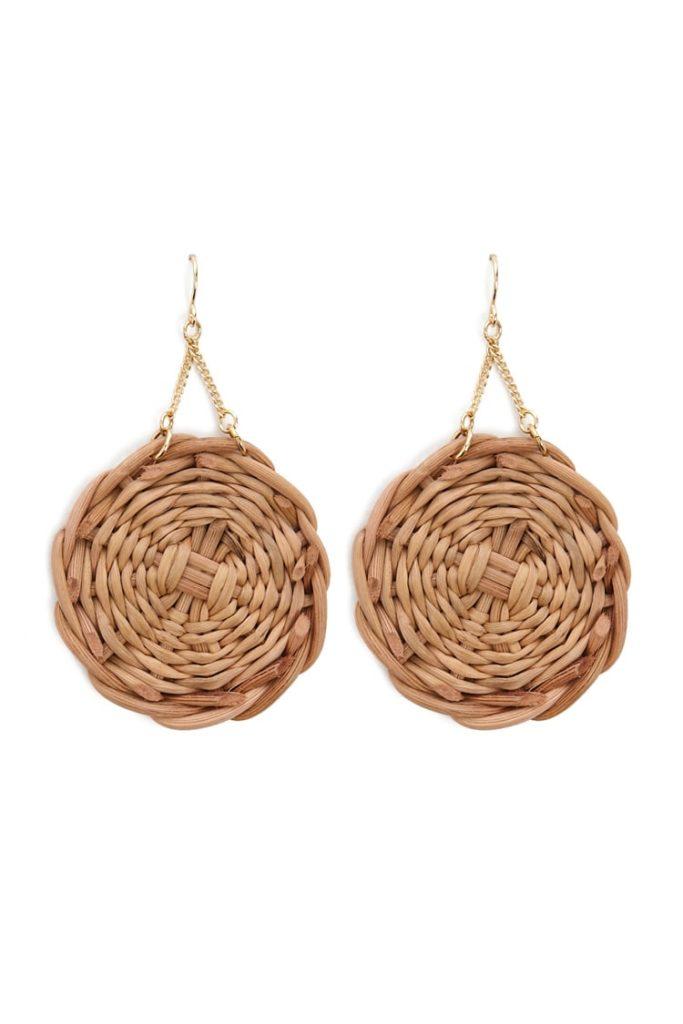 Wicker Pendant Drop Earrings $6.90
