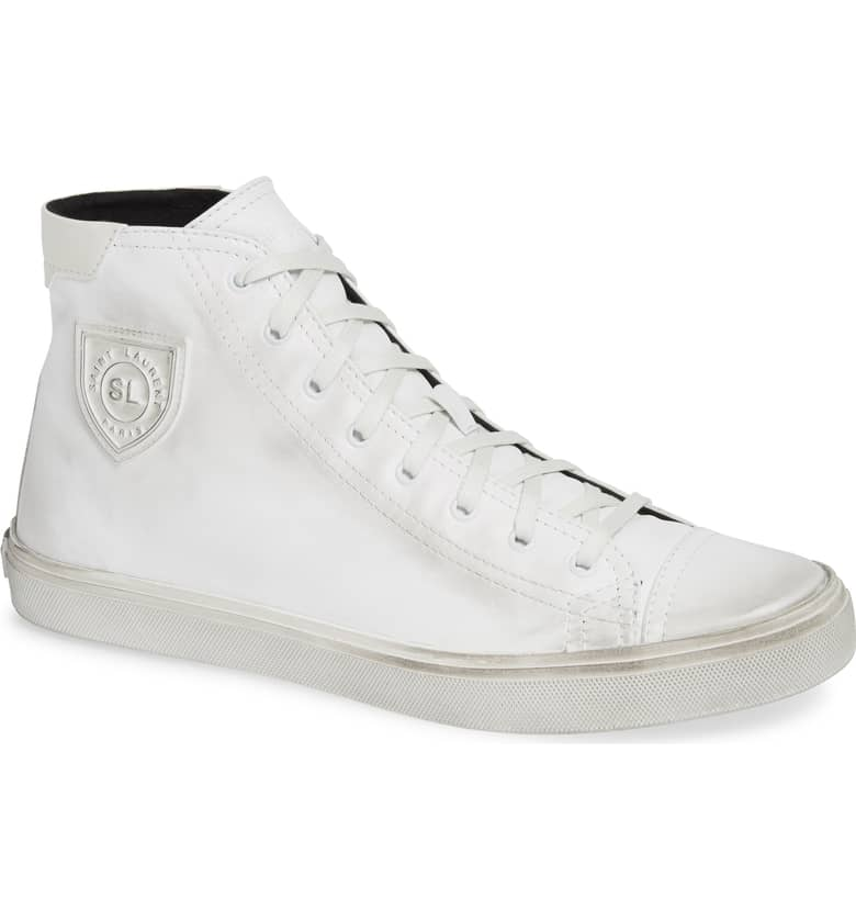 Bedford High Top Sneaker, Main, color, WHITE $695.00