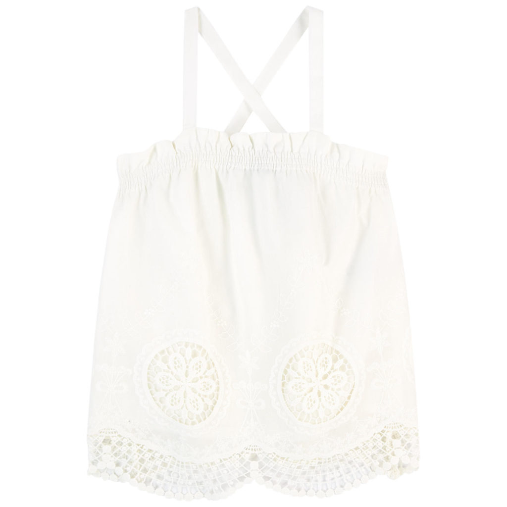 LITTLE REMIX Broderie anglaise lace tank top $121
