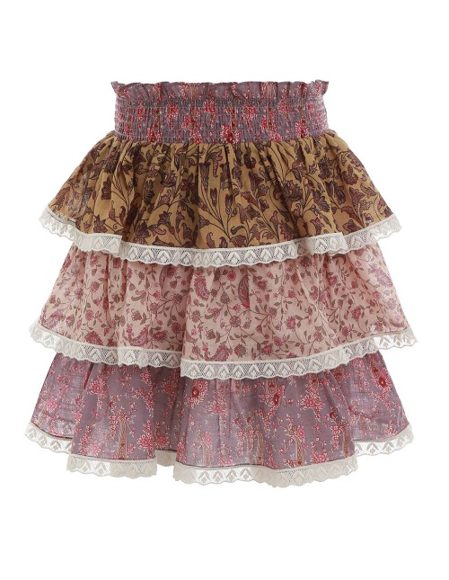 JUNIPER TIERED SKIRT $150.00