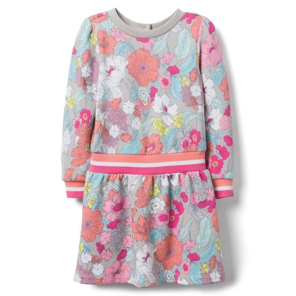 FLORAL DROPWAIST DRESS $43.20