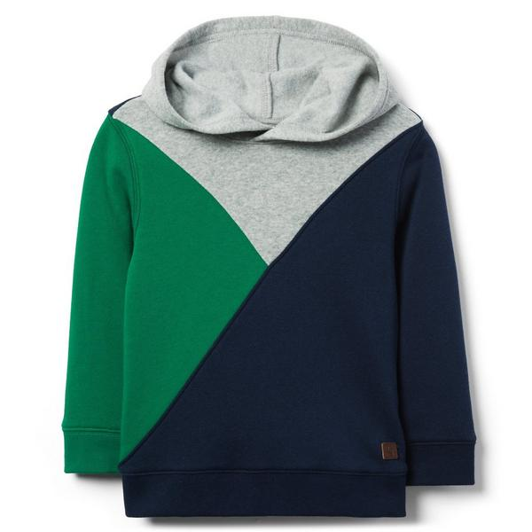 PIECED HOODED SWEATSHIRT $20.79