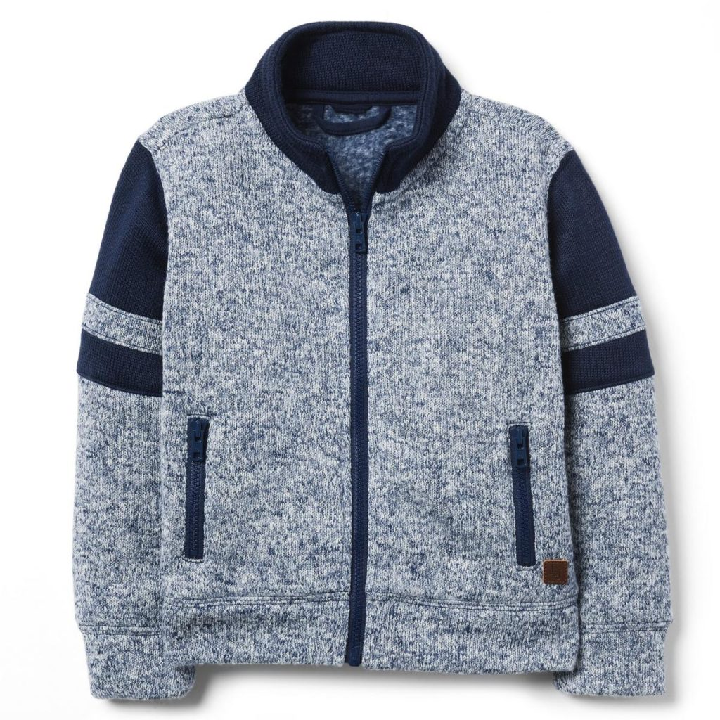 PIECED FLEECE JACKET $24.79
