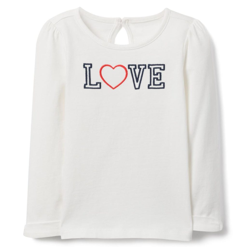 EMBROIDERED LOVE TEE $23.20