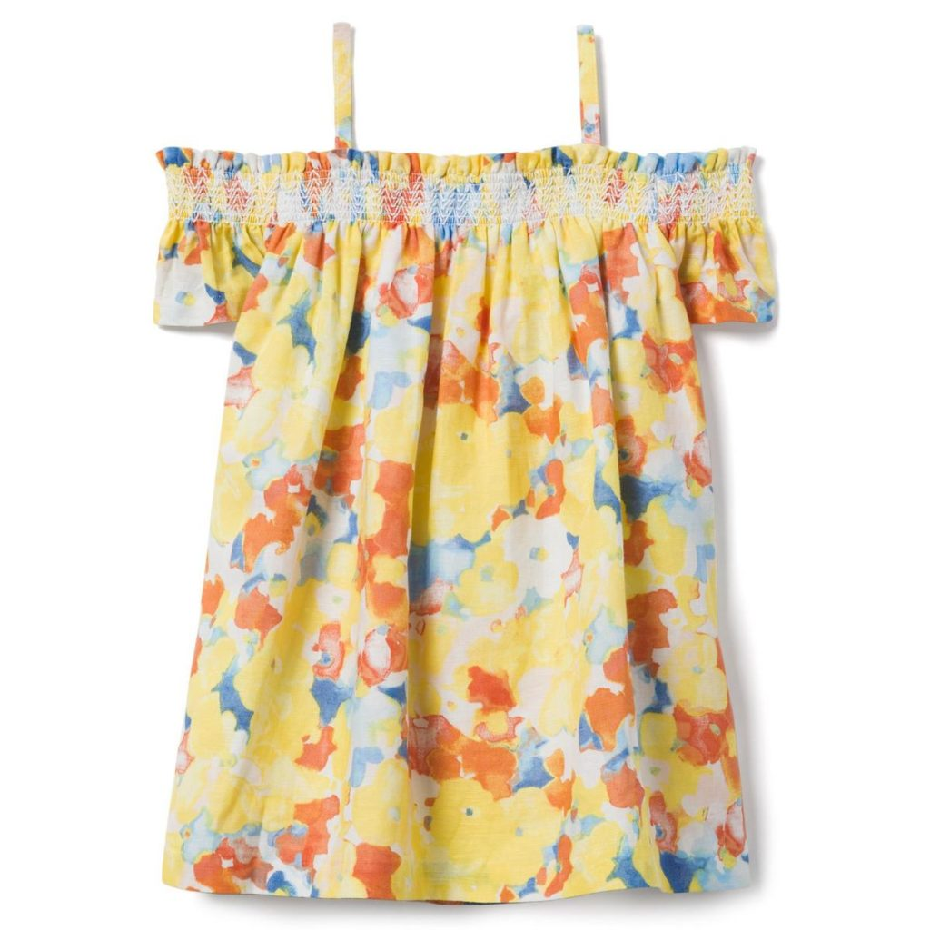 FLORAL OFF-THE-SHOULDER DRESS $52.00