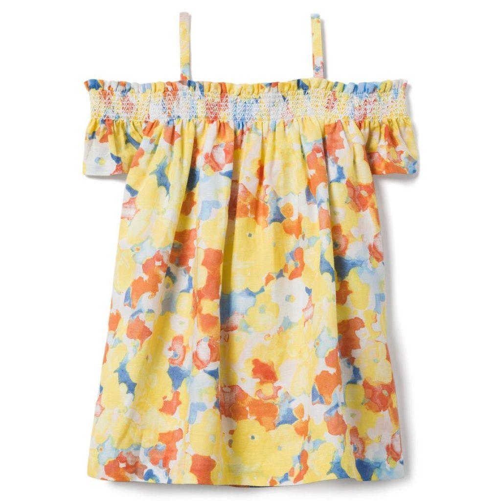 FLORAL OFF-THE-SHOULDER DRESS $52.00