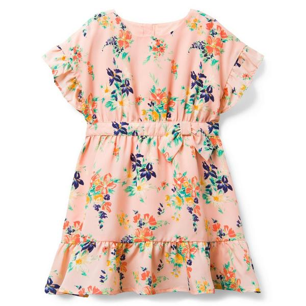 FLORAL RUFFLE SLEEVE DRESS $47.20