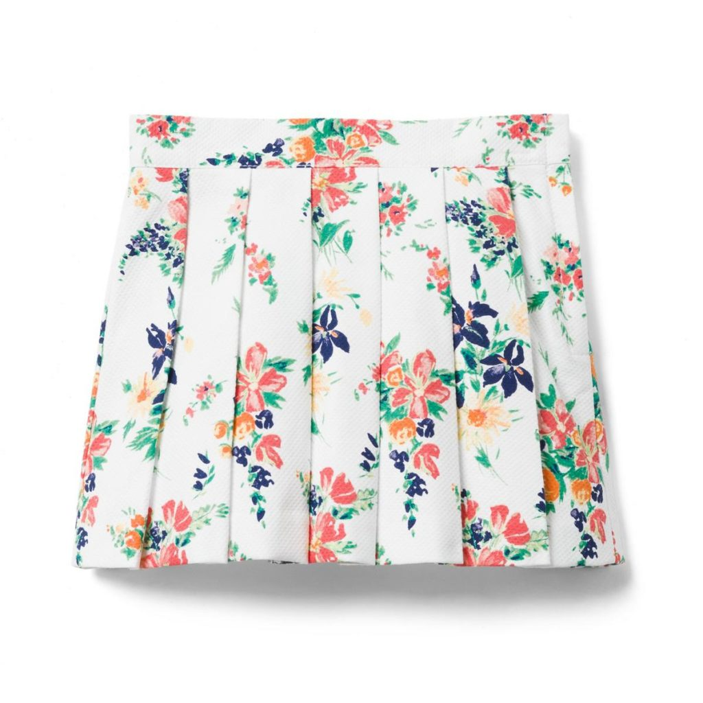 FLORAL PLEATED SKIRT $33.60