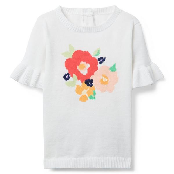 FLORAL SWEATER TOP $43.20