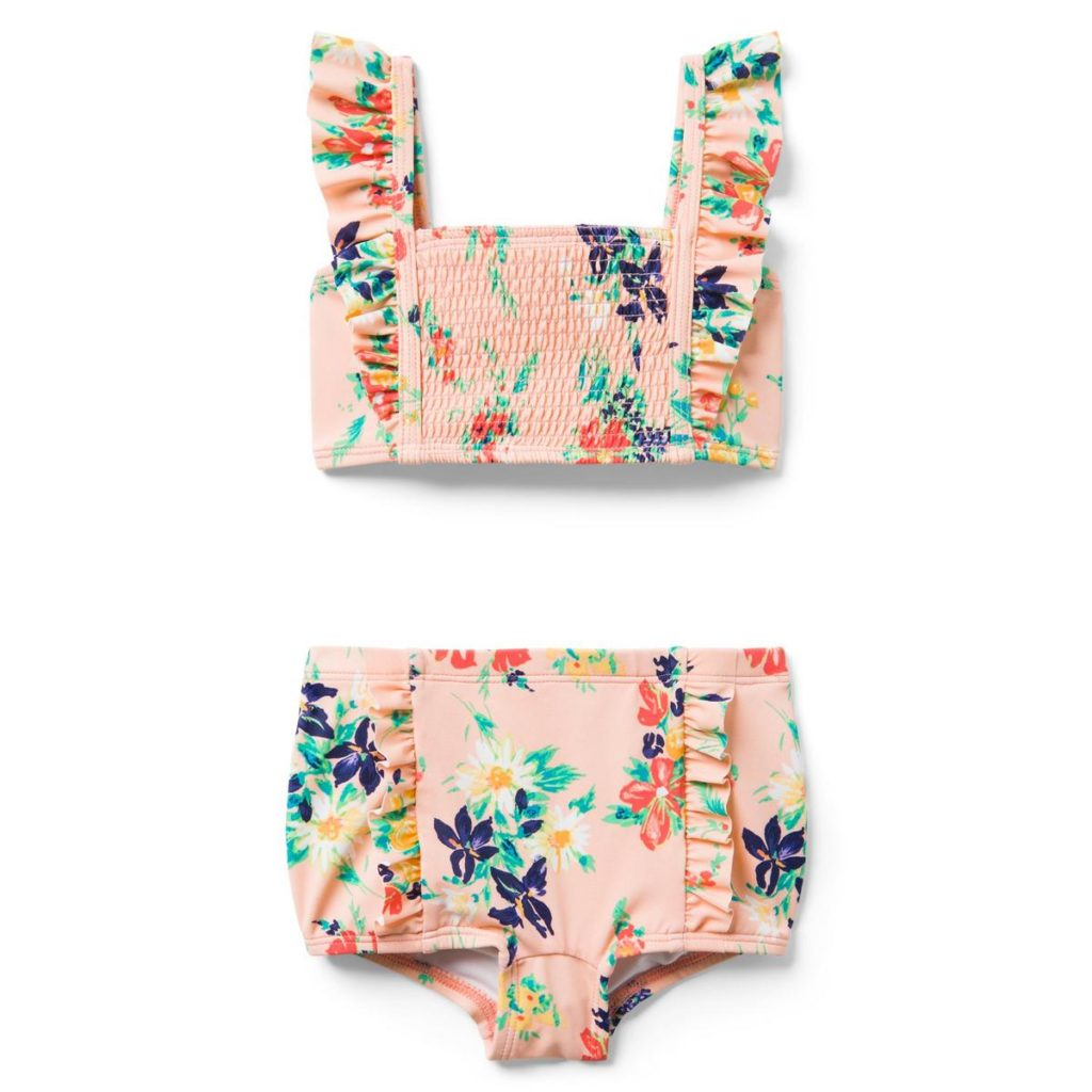 FLORAL RUFFLE 2-PIECE SWIMSUIT $31.20