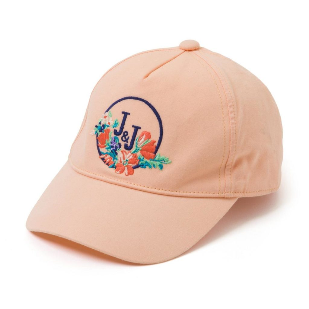 EMBROIDERED FLORAL LOGO CAP $19.20