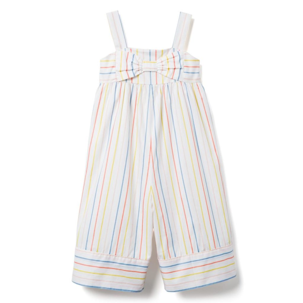MULTICOLOR STRIPED WIDE-LEG JUMPSUIT $52.00