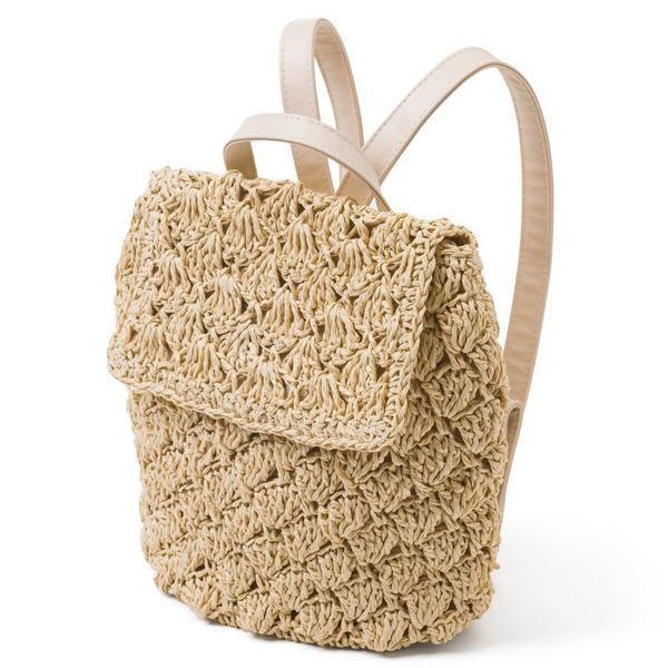 STRAW BACKPACK $36.00
