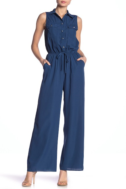 BE BOP Sleeveless Shirttop Jumpsuit $22.97