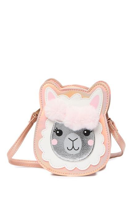 Applique Faux Fur Llama Crossbody $10.97