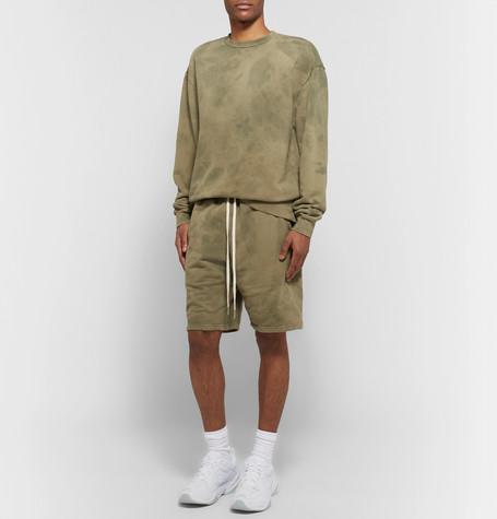 JOHN ELLIOTT Tie-Dyed Loopback Cotton-Jersey Drawstring Shorts $195