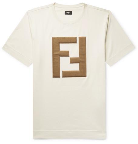 FENDI Logo-Appliquéd Cotton-Jersey T-Shirt $690