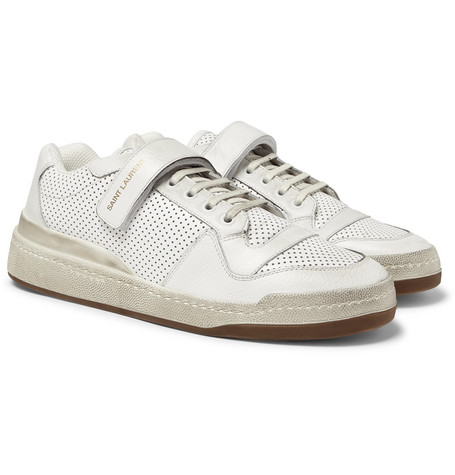 SAINT LAURENT Sl24 Perforated Leather Sneakers $795