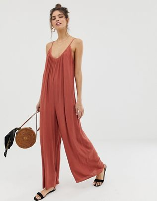 low back jumpsuit in crinkle $40.00