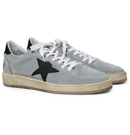 Ball Star Distressed Suede And Leather Sneakers $445