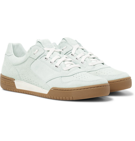 STONE ISLAND Perforated Suede Sneakers$435