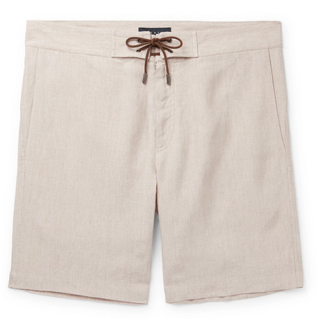 SEASE Sunset Linen Drawstring Shorts $245