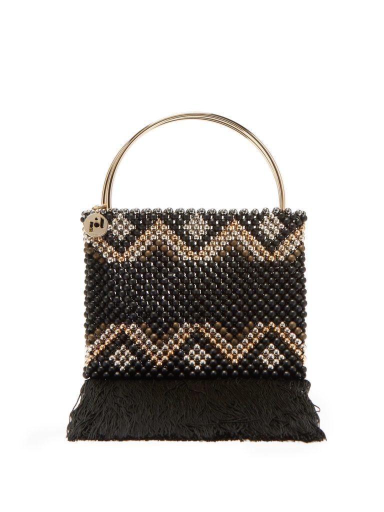 ROSANTICA BY MICHELA PANERO Janice zigzag-beaded clutch $553