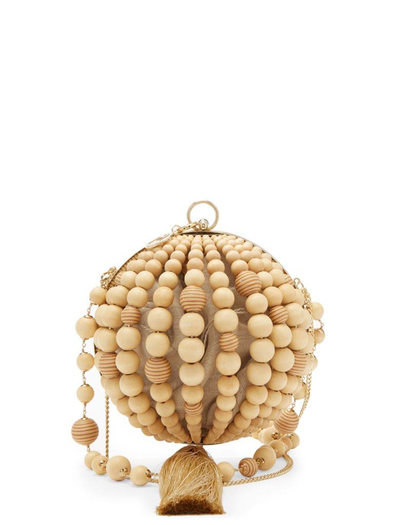 ROSANTICA BY MICHELA PANERO Ruby bead and tassel half-sphere clutch $703