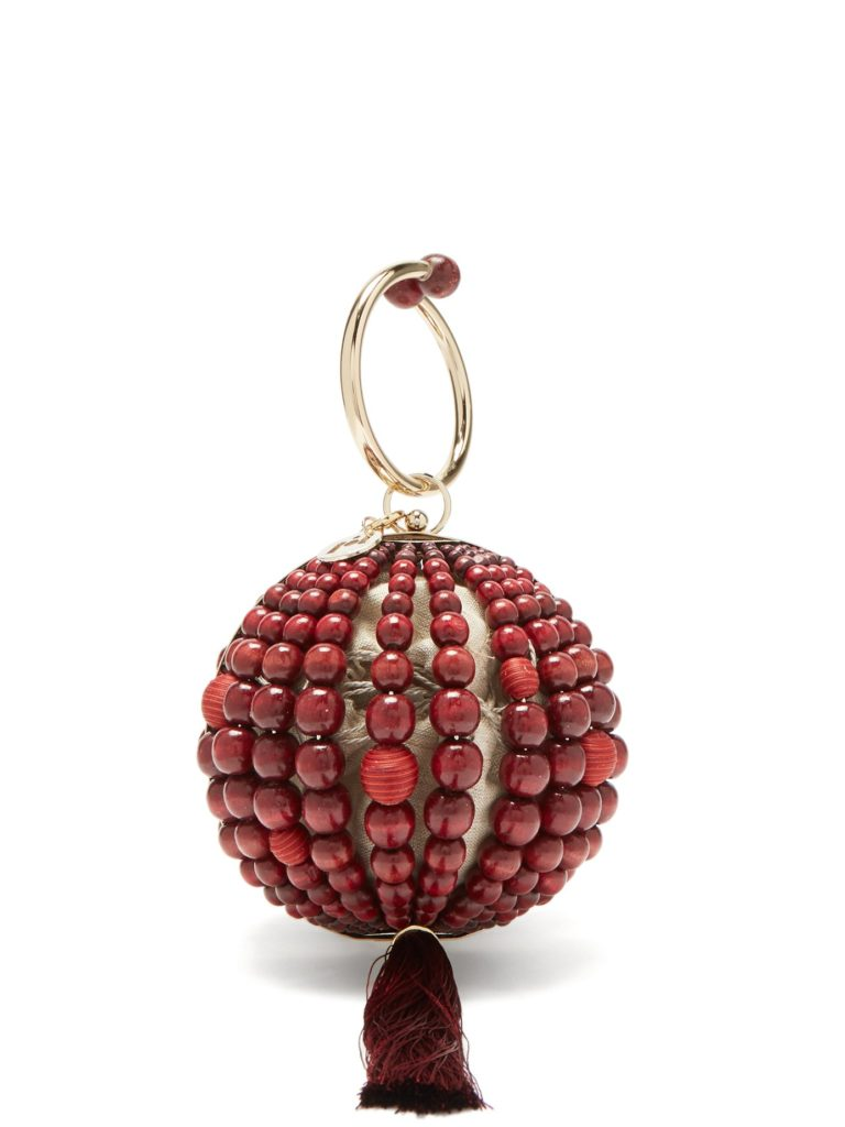 ROSANTICA BY MICHELA PANERO Billie bead and tassel ball clutch $601