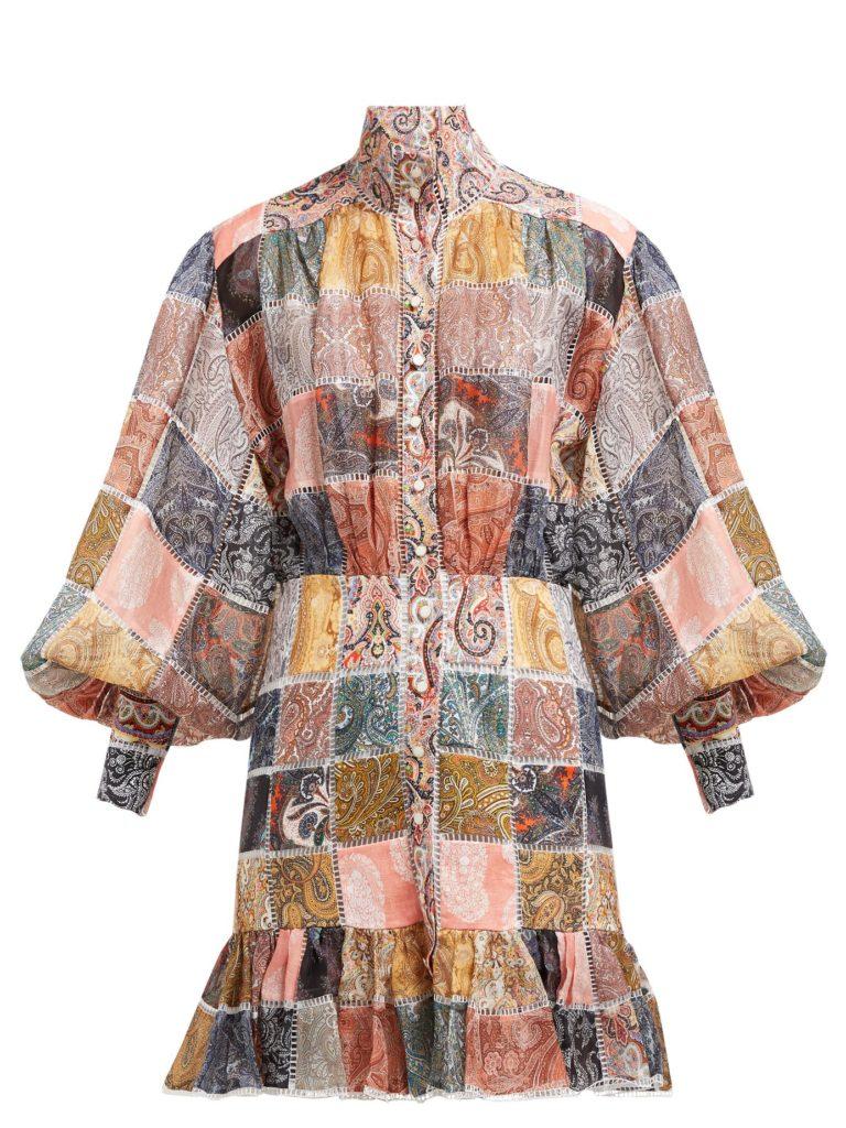 ZIMMERMANN Ninety-Six patchwork-print shirtdress $2,350