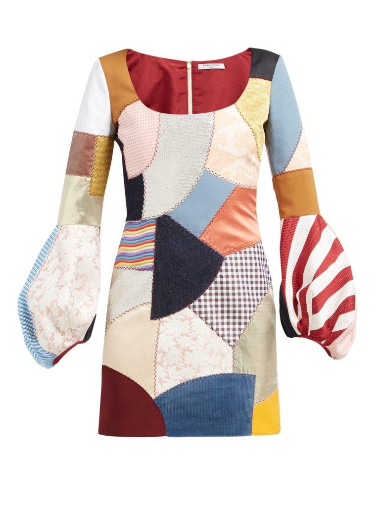 FRANÇOISE Patchwork scoop-neck dress $1,860