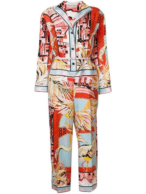 EMILIO PUCCI printed eyelet-embellished jumpsuit $2,111.00